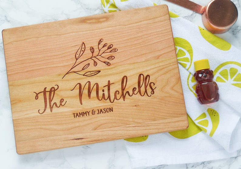 Chef Gift Engagement Gift Housewarming Gift Personalized Cutting Board Gift for Food Lover Custom Wedding Gift Custom Cutting Board