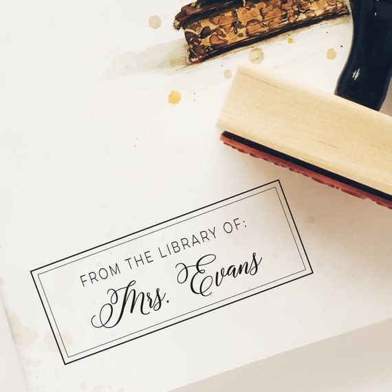 Personnalisé gravé enseignants chouette boîte en bois avec set of teacher stamps