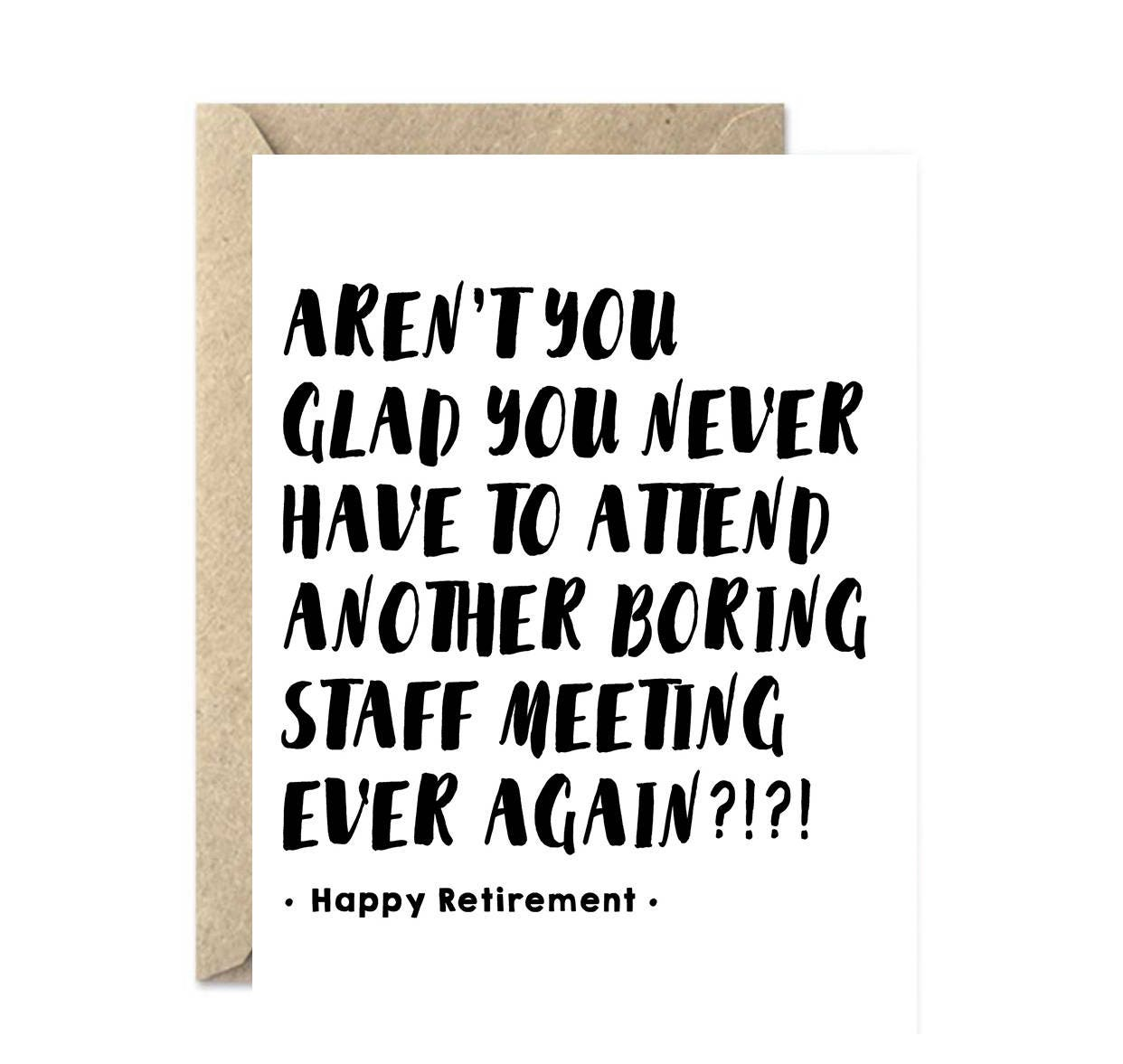 Funny Retirement Card Employee Retiring Card Happy