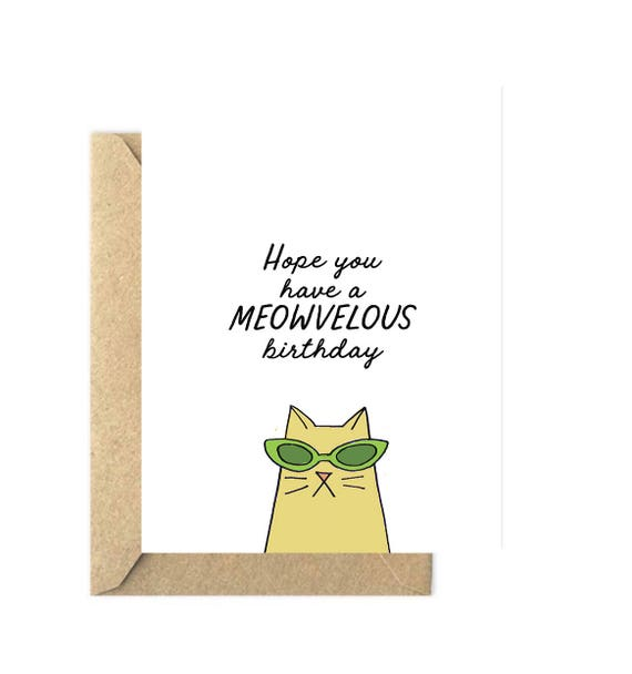 Funny Cat Lover Birthday Card Lovers Pet