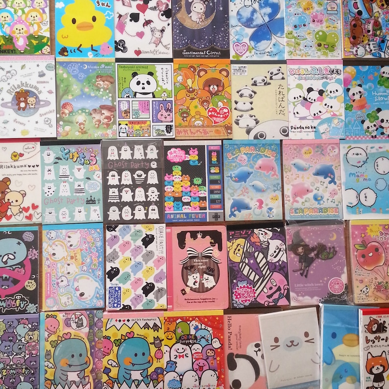 100 Piece KAWAII GRAB BAG Brand name Large Memo sheets  image 0