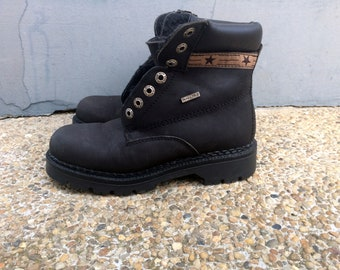 Vintage Womens Boots ,Leather Boots Size EU 37, US 6.5, Ultra Tex Black Boots, Casual Boots, Streetstyle, Footwear, Winter Boots, Flat Boots