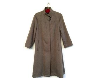 Vintage womens wool coat / womens long wool coat / SCANDINAVIAN virgin wool winter coat /Vintage minimalist wool coat