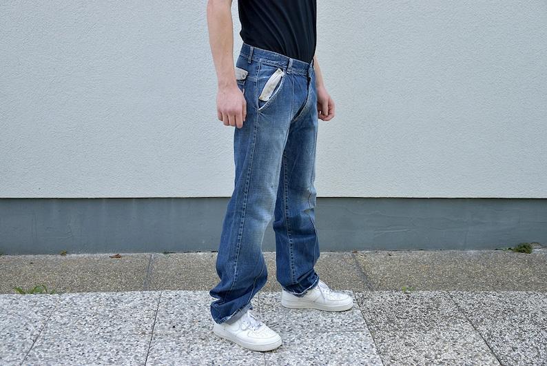 c077dd63 80's Men Straight Leg Baggy Jeans // Men's Jeans | Etsy