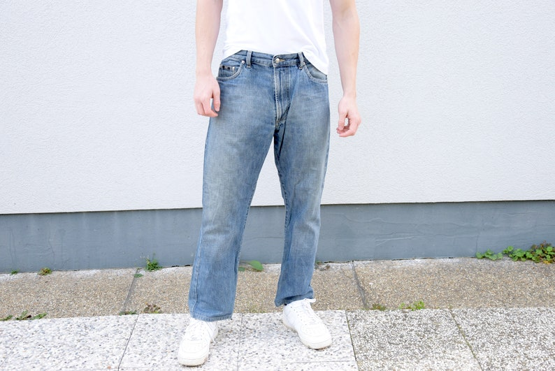 d55fcc659 Men's Jeans . 90's HUGO BOSS Blue Stonewashed | Etsy