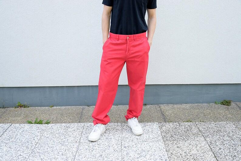 fcf78a32a95 Pantalon chino vintage pour homme en pantalon en coton POLO