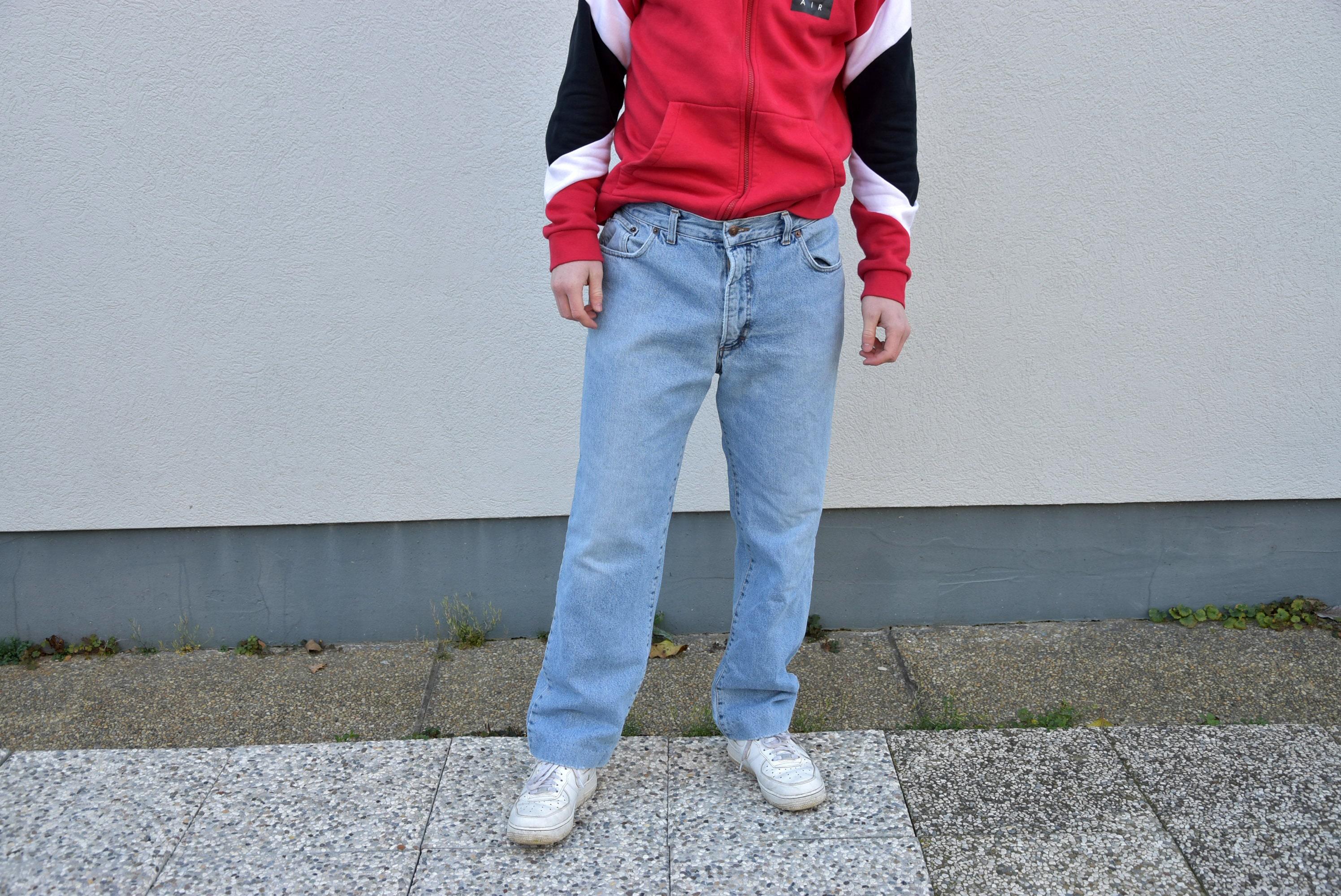 2b7f29fe Men 80's Jeans. Vintage Denim Straight Leg Blue Jeans | Etsy
