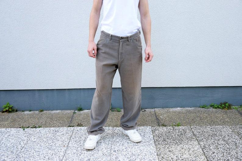 b455adbf0d Pantalon velours de coton homme. 90 ' s HUGO BOSS Staight | Etsy