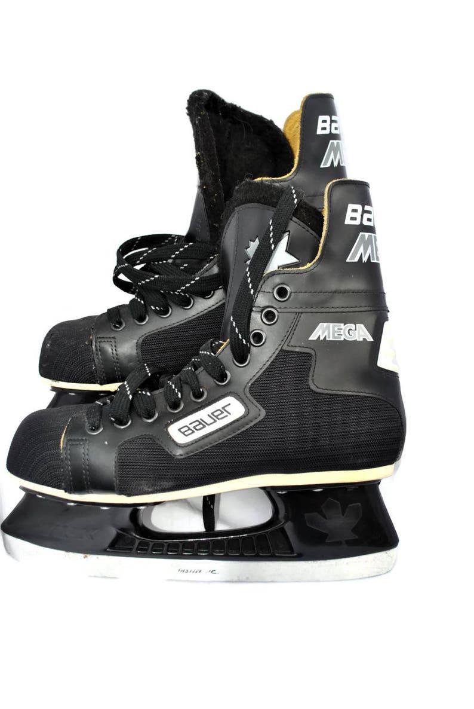 Vintage Ice Skates BAUER MEGA   Black  Canstar Super fit foam Ice Skates  Size 7 Mens Footwear