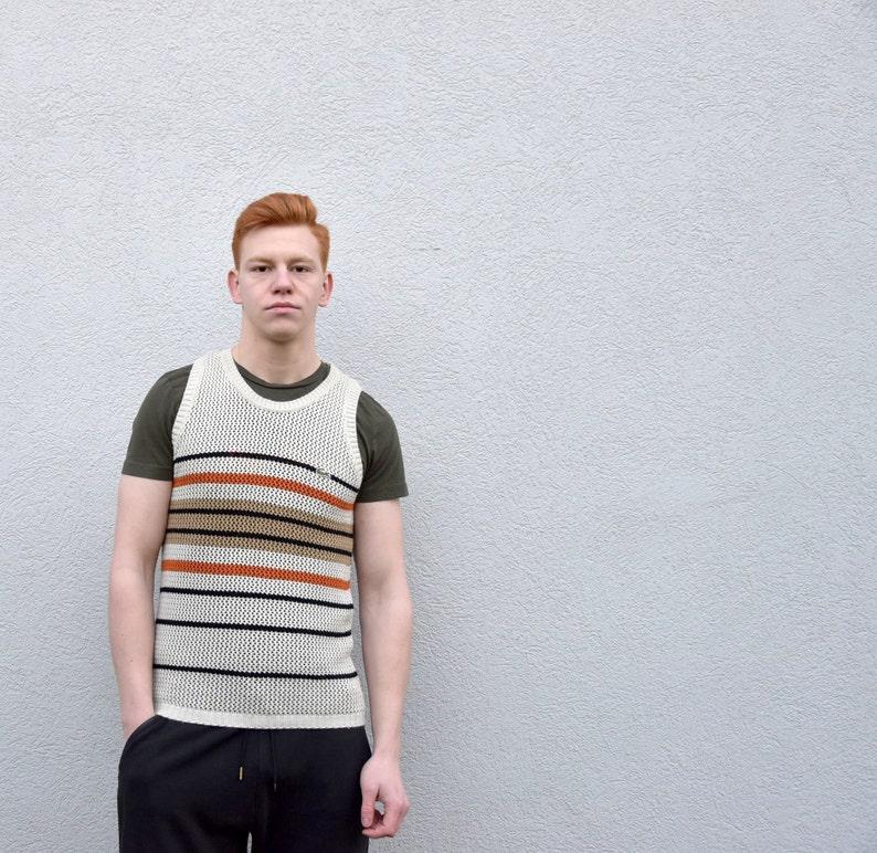 21b7af2f Vintage LACOSTE Knit T-shirt Men's Sleeveless Knit Vest Retro T-Shirt  Menswear Boyfriend Gift ,size Small/S
