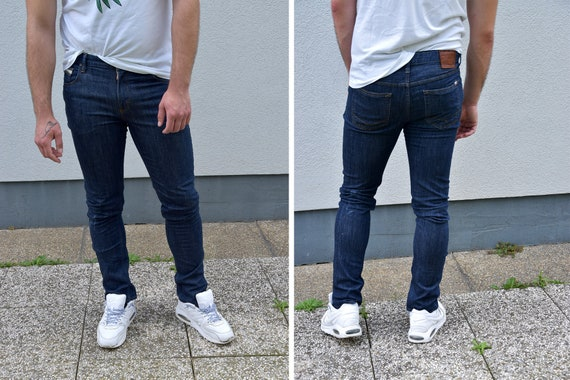 Najlepiej kupować nowe sklep dyskontowy Mens Jeans // VANS Mens Skinny Jeans Slim Fit Dark Blue Jeans, Size W36 L34  Skinny Jeans Utility Style Menswear Streetstyle Men fashion