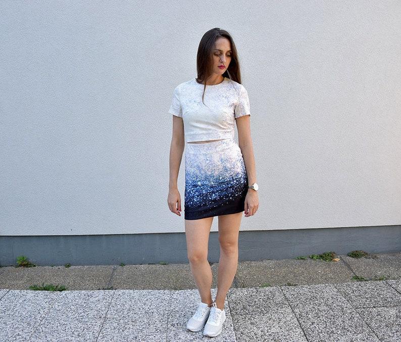 ae874725e2d1 90 s Bodycon Cosmic Pattern Dress. Sexy Pencil Summer