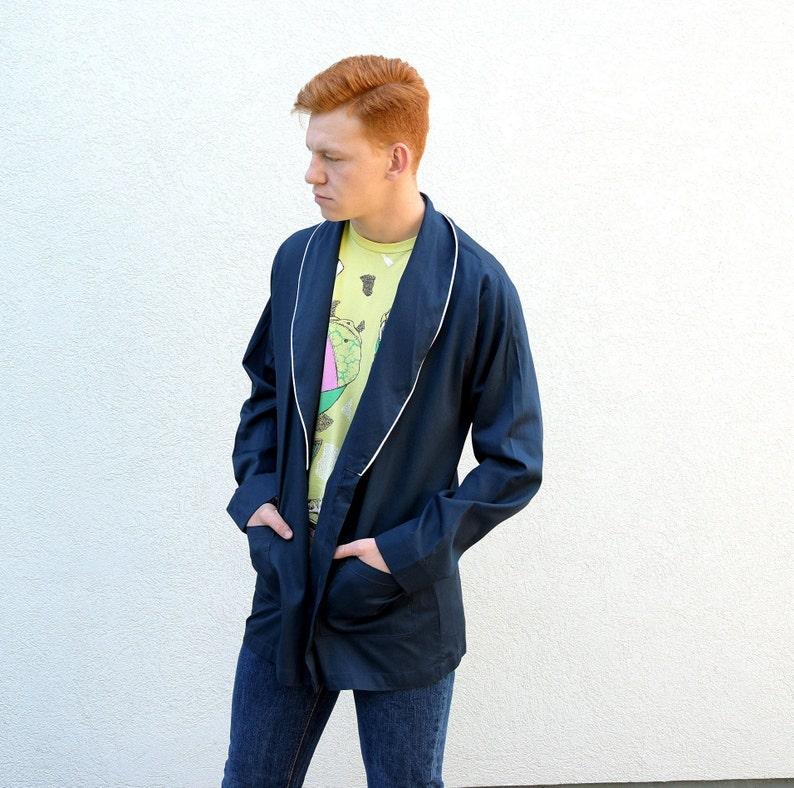 size Large L Men  Blazer.Vintage 1990s Nazareno Gabrielli Mens Blazer Shawl Collar Blazer Men Jacket Designer Blazer Menswear Outerwear
