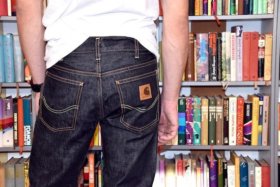 Mens 90s CARHARTT  Jeans Straight leg  Button Fly