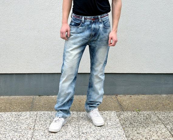 XL 90/'s GAS Men/'s Straight Leg Jeans Men/'s Jeans  Hip Hop Pants Streetstyle Streetwear Menswear Boyfriend Gift Old Skool,Size 38