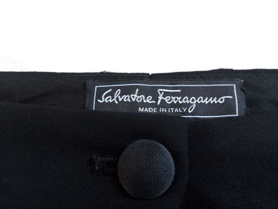 womens Blogger FERRAGAMO Black PALAZZO SALVATORE Streetstyle Hipster 90's pants designer trousers Womensfashion Womenswear Vintage qxwO6nFRx
