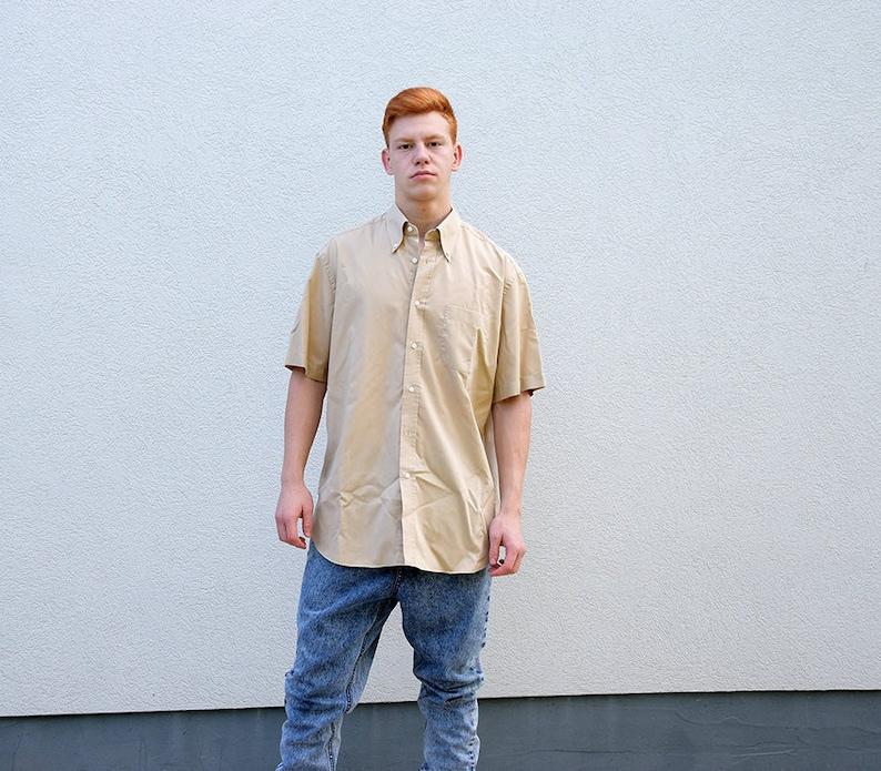 99285e8f Vintage HUGO BOSS Mens Short Sleeve Shirt // Safari Casual | Etsy