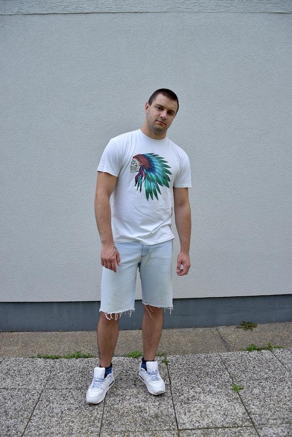 80 S Men Denim Shorts Men S Jeans Shorts Festival Etsy