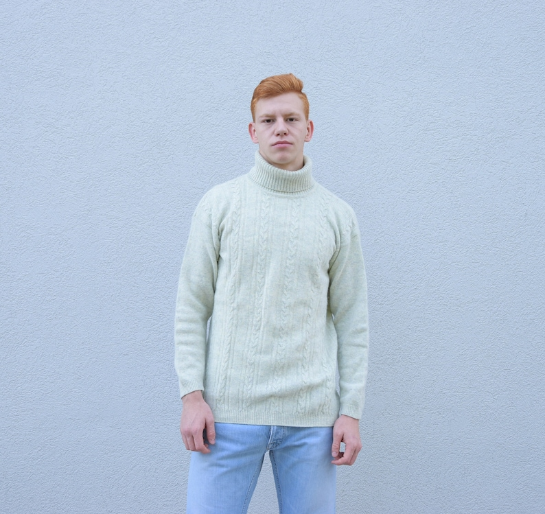 64bfe6b0a407 Men s Angora Lambswool Turtleneck Sweater. 80 s
