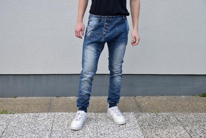 86ba36a6e6b83 Herren Jeans, Slim Fit blau Denim Retro Jeggings Denim Hose Menswear  Streetstyle Herrenmode Herren Stil Freundgeschenk. Größe Medium M