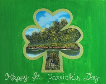 St. Patrick's Day, Bob Ross Style Painting