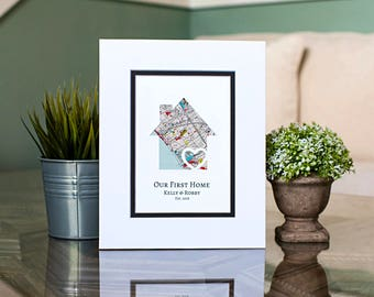Our First Home, New Home Housewarming Gift, Custom Map Gift, Our First Apartment Gift, My First Home, Closing Gift For Realtors, Client Gift