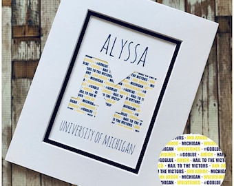 Class of 2020 personalized graduation gift, gift for grad, college name and slogan, high school grad, college graduation gift for son