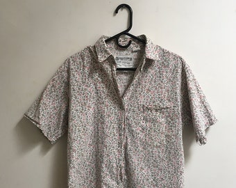 vintage floral short sleeve shirt