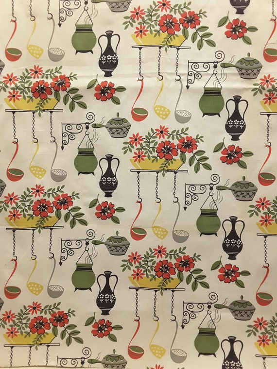 Vintage Kitchen Fabric Custom Design