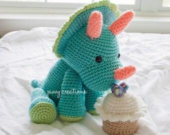 Amigurumi Triceratops | Made to Order