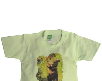 "Tahoe Baby Tee ""Baby Bear and Flower"" Size 18 mo"
