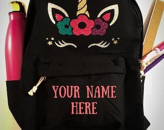Joliyah Designs Unicorn Full Size Backpack, Unicorn Bookbag, Backpack for Girls
