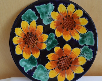 Talavera  white and blue dish