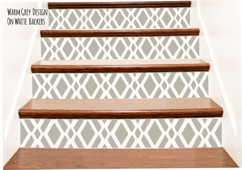 Decorative Vinyl Stair Riser Decals . Step Stickers . Staircase Design  Decor   Custom Cut   Your Choice Of Color