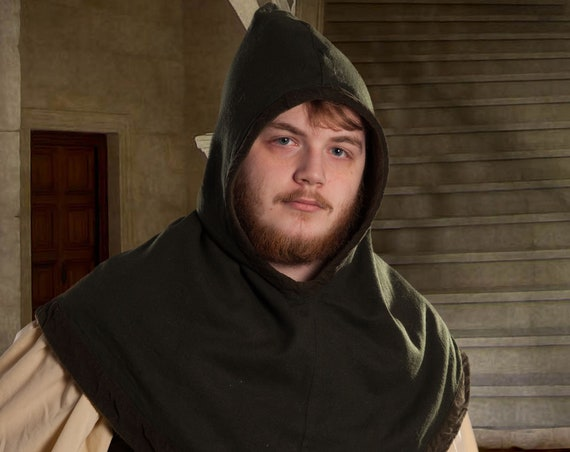 The Huntsman's Hood for LARP, Roleplaying, Adventure, Fantasy, Renaissance, Medieval Custom created for you.