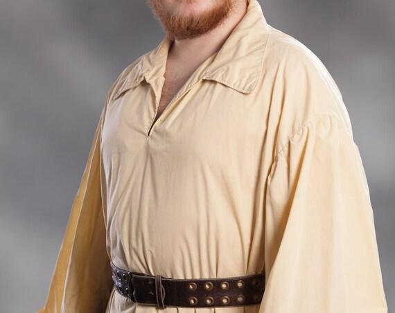 Men's Collared Renaissance Shirt with Tie cuffs, Renaissance, LARP, Costume, Fantasy, SCA, Adventurer, Pirate