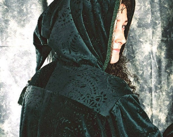 Velvet Evening Robe, Fantasy, LARP, Costume, Renaissance, Medieval, Cosplay