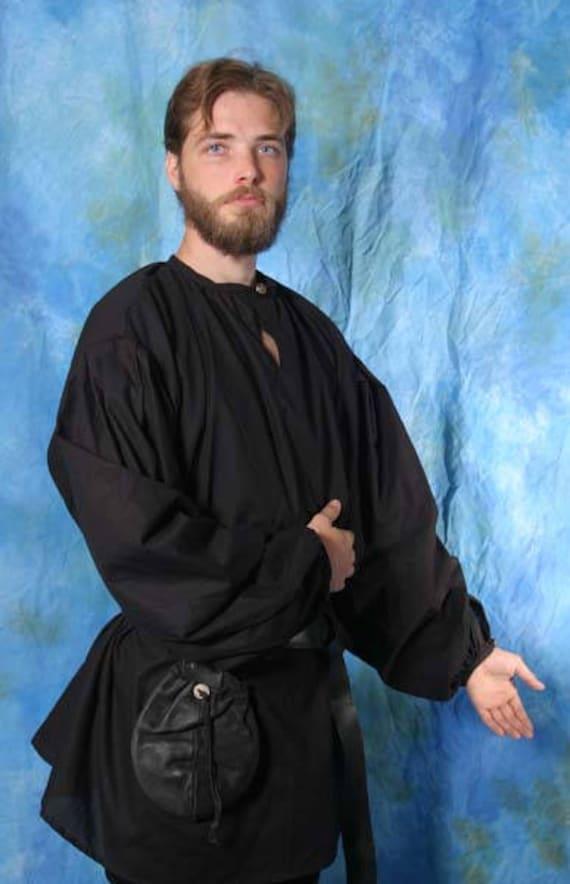 Custom Men's Renaissance Adventurer Shirt, LARP, Costume