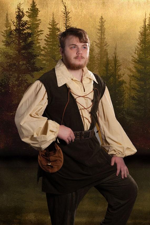 Custom Mens Lace Up Tunic for Renaissance Faire, LARP, Fantasy