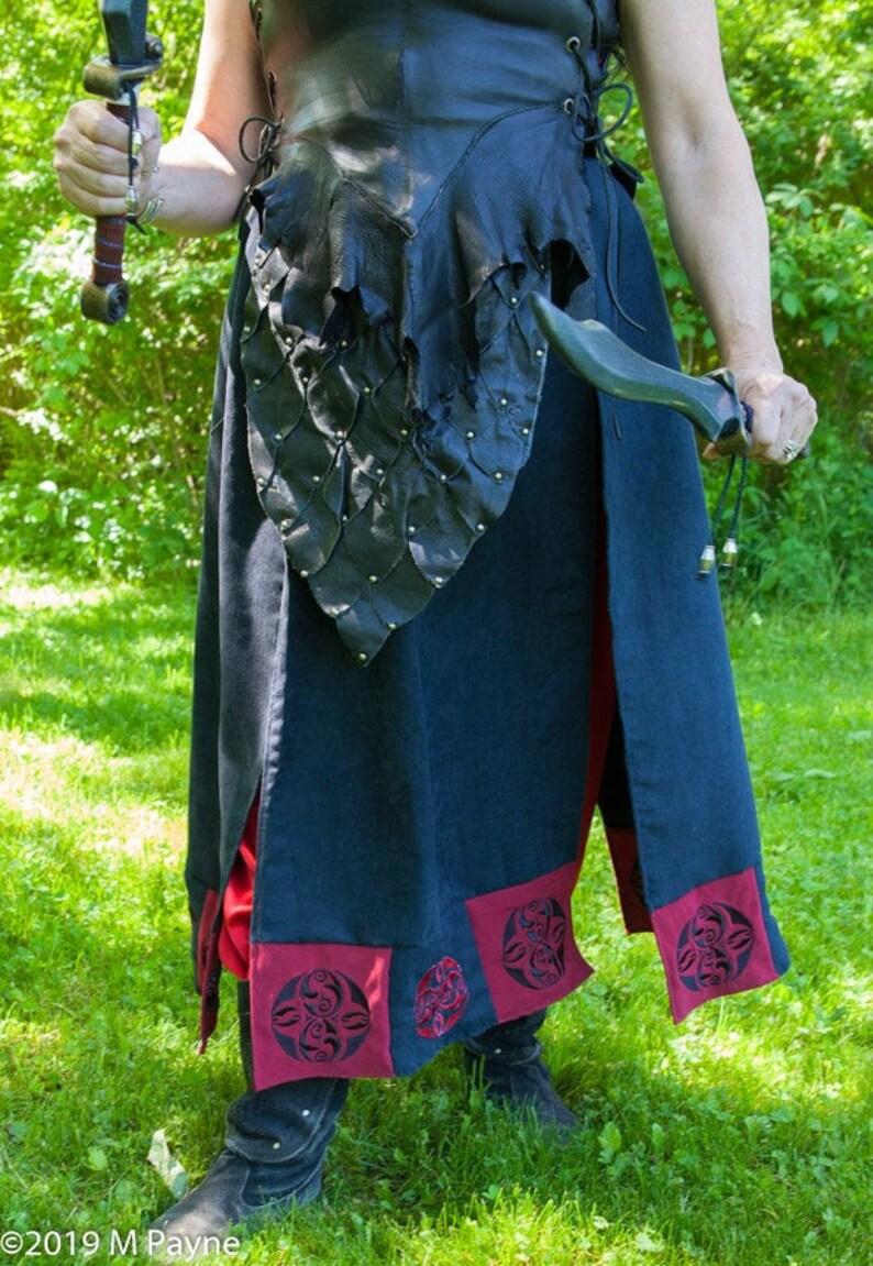 Warrior Queen Battle Skirt for LARP Ren Faire Satyr image 0