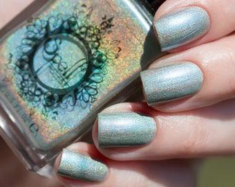 Spell Polish ~Radiant Rabbit~ antique aqua holo nail polish!