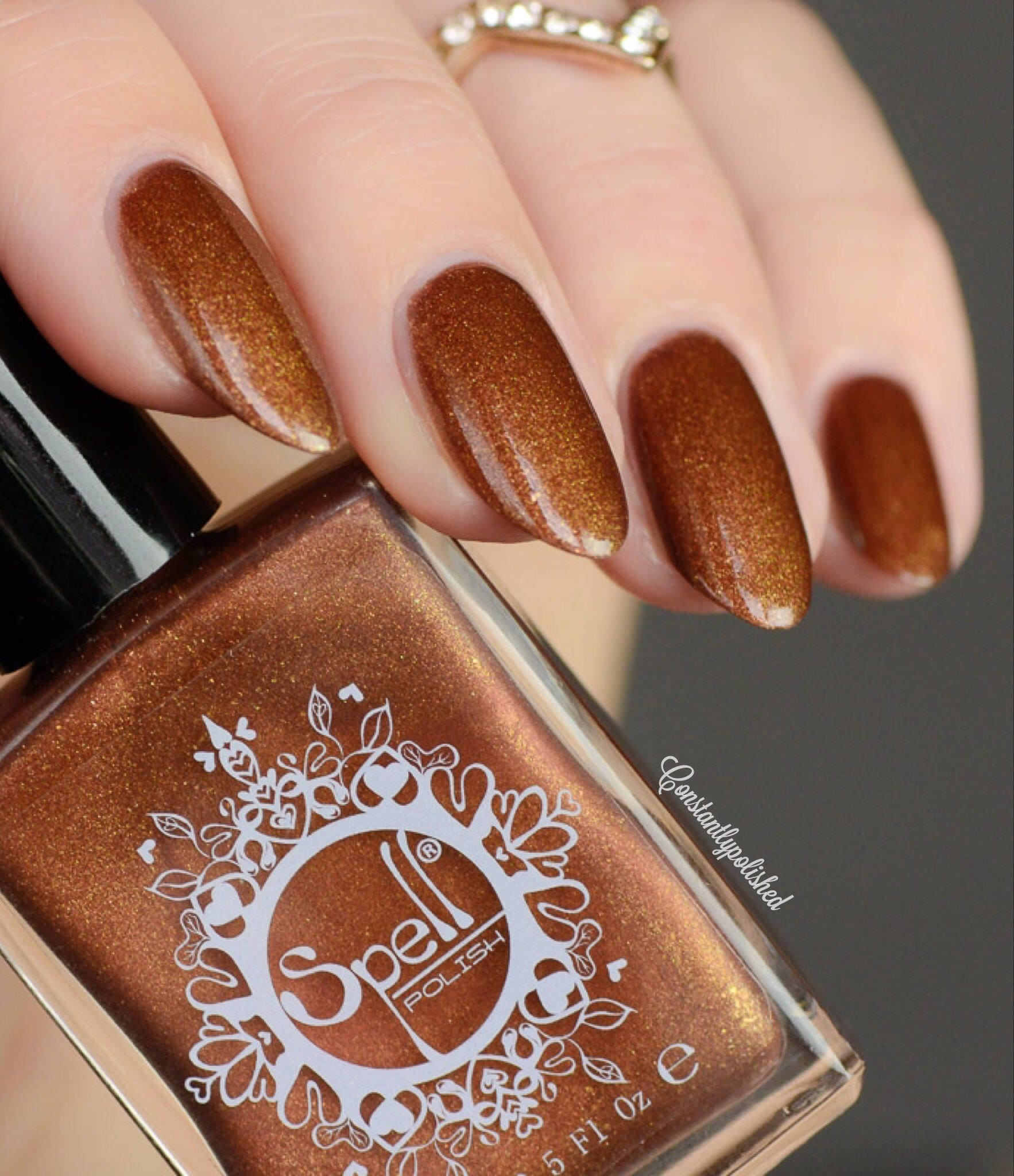 Golden Handcuffs SPELL Copper & Gold matte nail polish
