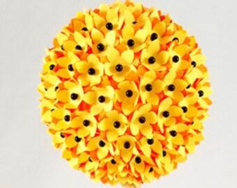 Paper Bonsai Tree - Yellow and Orange