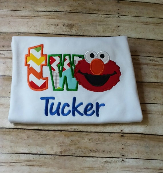 Elmo 2nd Birthday Shirt TWO