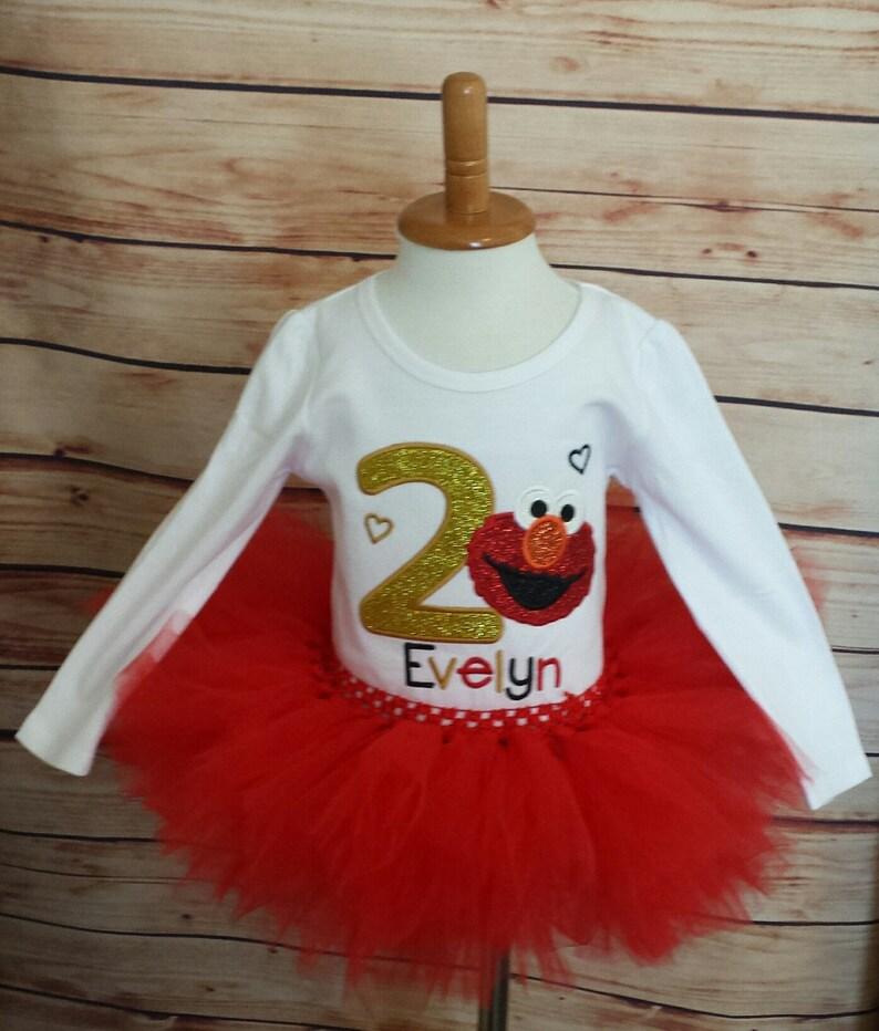Elmo 1st Birthday Shirt Tutu 2nd