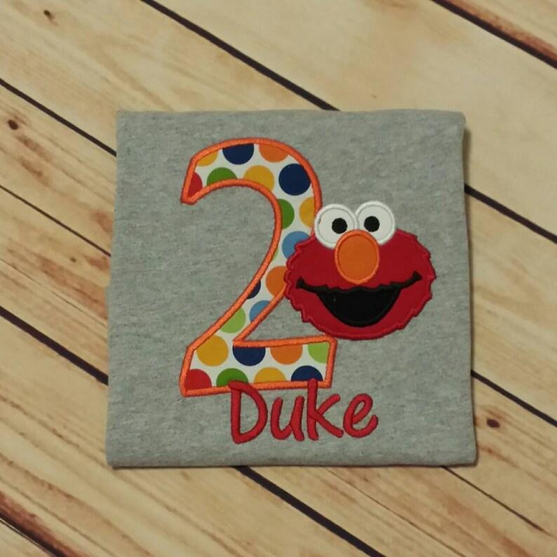 Elmo 2nd Birthday Shirt 1st
