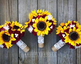Sunflower Bouquet Etsy