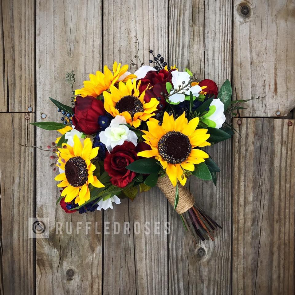 Sunflower Wedding Bouquet Ideas: Sunflower Bouquet Sunflower Wedding Bouquet Boho Sunflower