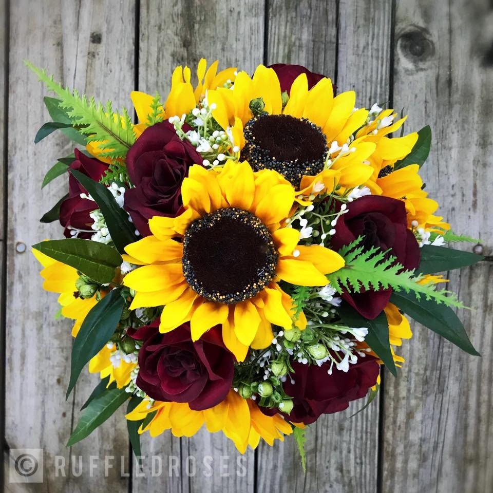 bordeaux bouquet tournesol tournesol gypsophile bouquet boho | etsy