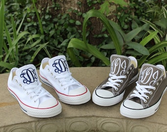 Monogrammed Low Top Converse Shoes 00f47ce1f